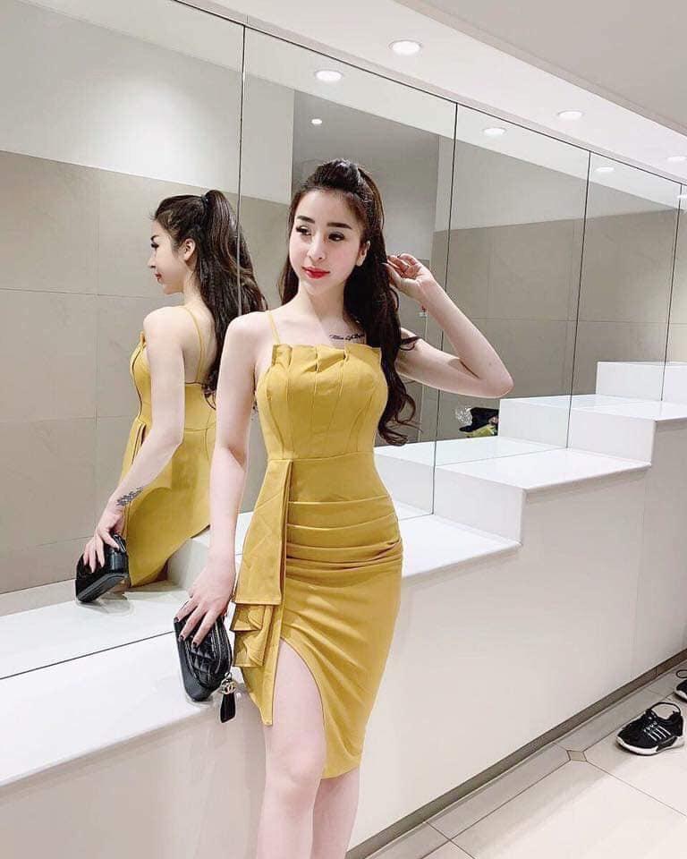 Đầm ôm dự tiệc vải Umi