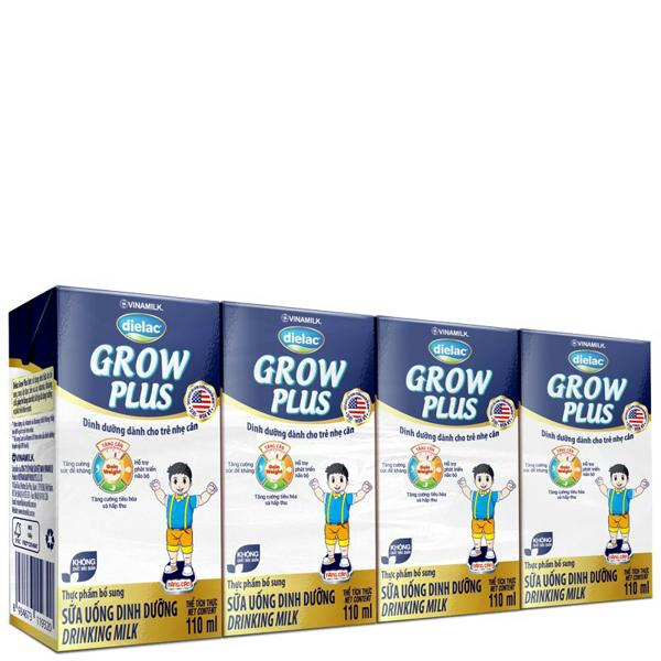 Sữa Uống Dinh Dưỡng Dielac Grow Plus (Xanh) - Lốc 4 Hộp x 110ml