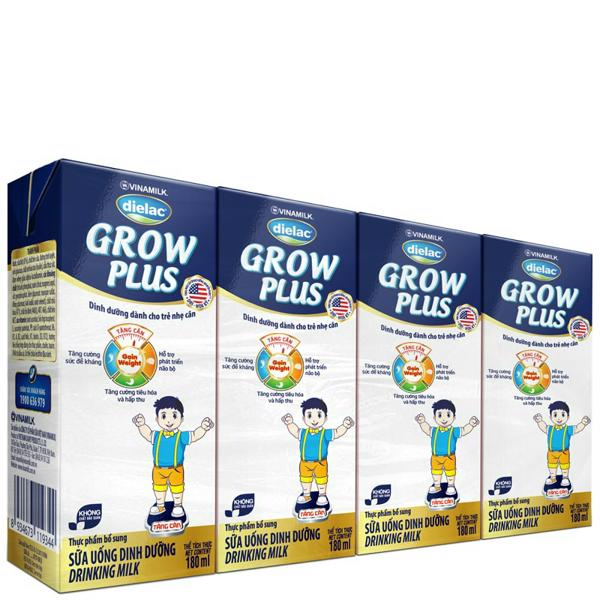 sua-uong-dinh-duong-dielac-grow-plus-xanh-loc-4-hop-x-180ml