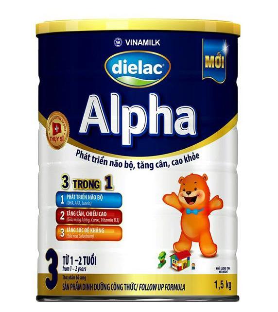 Sữa Bột Dielac Alpha Step 3 - Hộp Thiếc 1,5kg