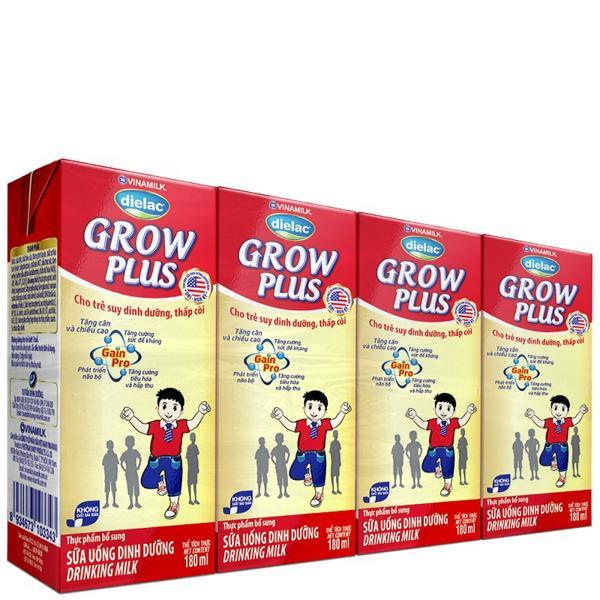 Sữa Uống Dinh Dưỡng Dielac Grow Plus - Lốc 4 Hộp x 180ml
