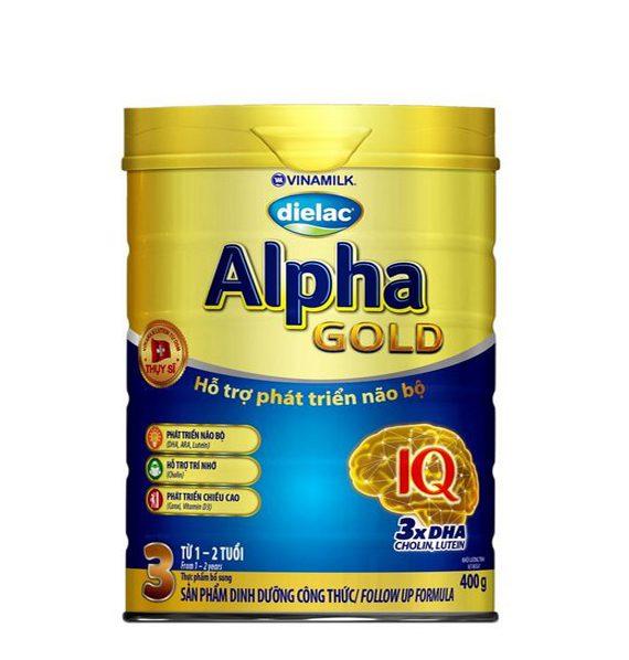 Sữa Bột Dielac Alpha Gold  Step 3 - Hộp Thiếc 400g