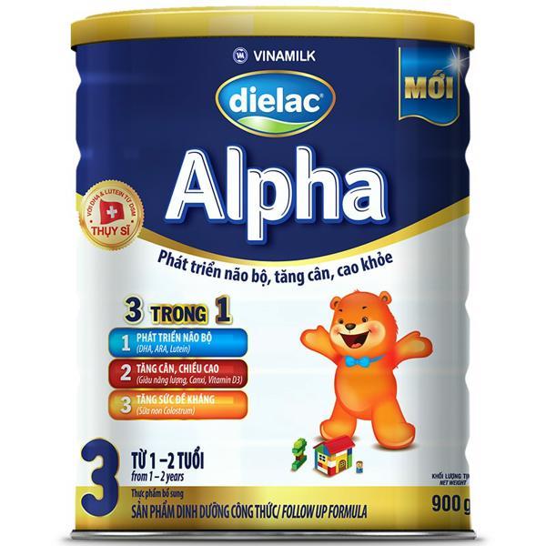 Sữa Bột Dielac Alpha 3  - Hộp Thiếc 900g
