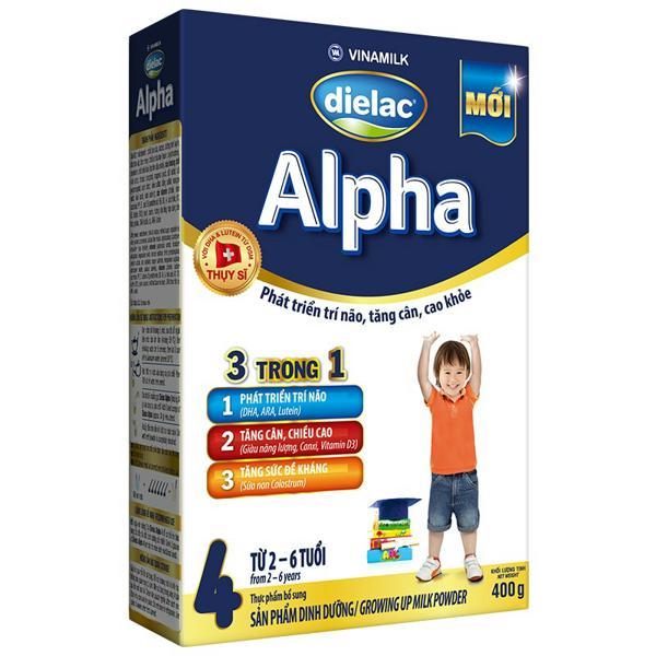 Sữa bột Dielac Alpha 4 - Hộp giấy 400g