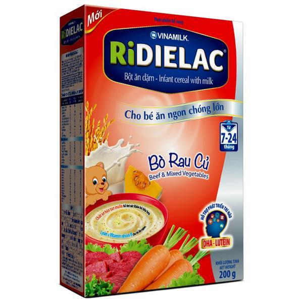 Bột ăn dặm RiDielac Bò Rau Củ - Hộp 200g