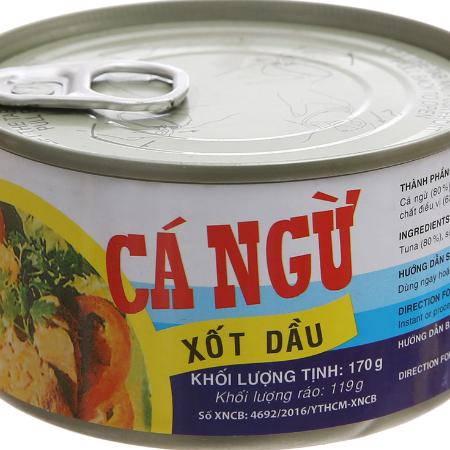 Cá ngừ xốt dầu 170g
