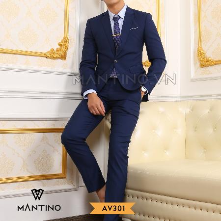 Quần Vest xanh Navy Mantino– AV301Q