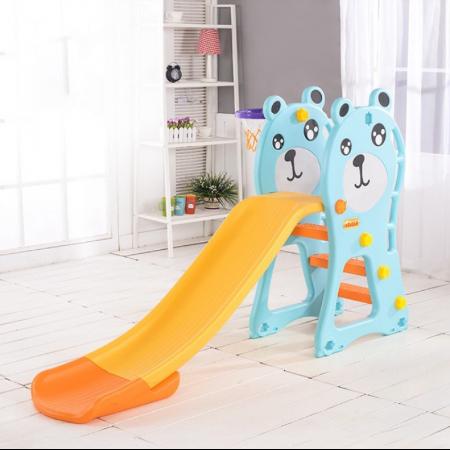 Cầu trượt trẻ em hình gấu màu xanh TH072018-CT01
