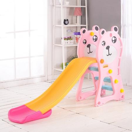 Cầu trượt trẻ em hình gấu màu hồng  TH072018-CT02