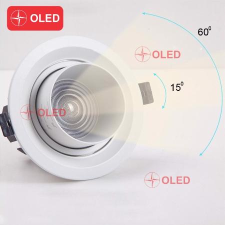 Đèn  Downlight âm trần thay đổi góc chiếu sáng 60 độ 20W 3K