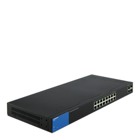 16-Port PoE+  Smart Gigabit Switch, + 2 port RJ45/SFP Combo
